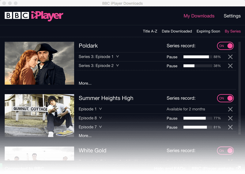 BBC iPlayer Downloads app